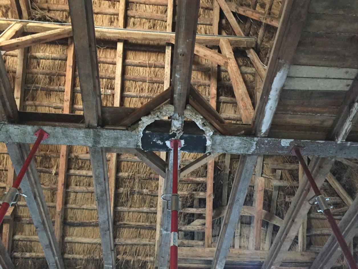 Dachkonstruktion, Foto: Karin Wachtel