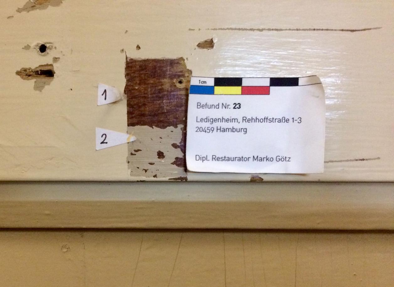 Befund WC-Tür, Foto: Kristina Sassenscheidt