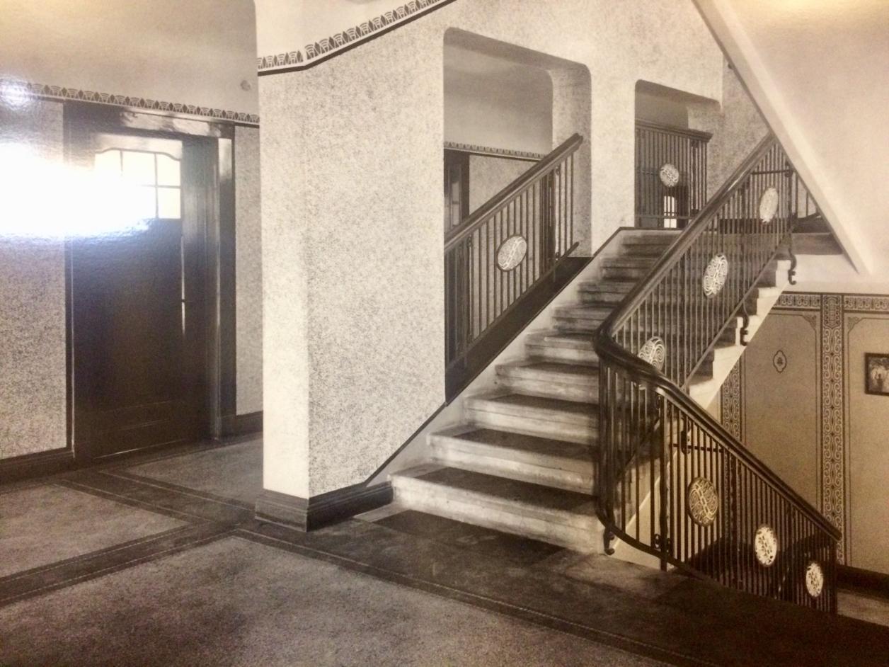 Historische Ansicht Treppenhaus, Quelle: Stiftung Ros