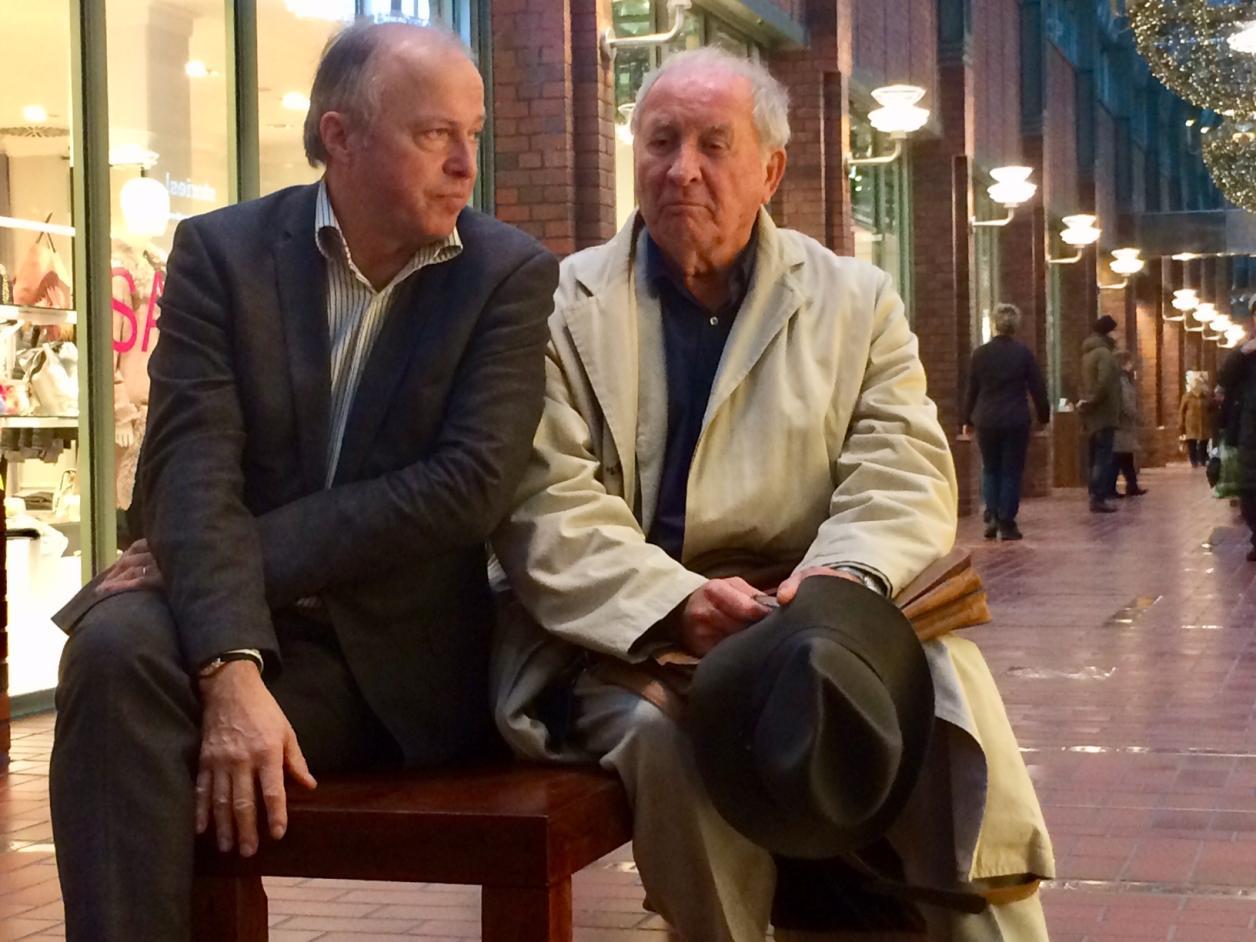 Andreas Kellner, Leiter des Denkmalschatzamtes, mit dem Architekten Volkwin Marg