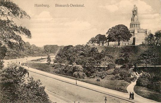 Alter Elbpark aus Südwesten (Postkarte um 1910, Archiv Joachim Schnitter)