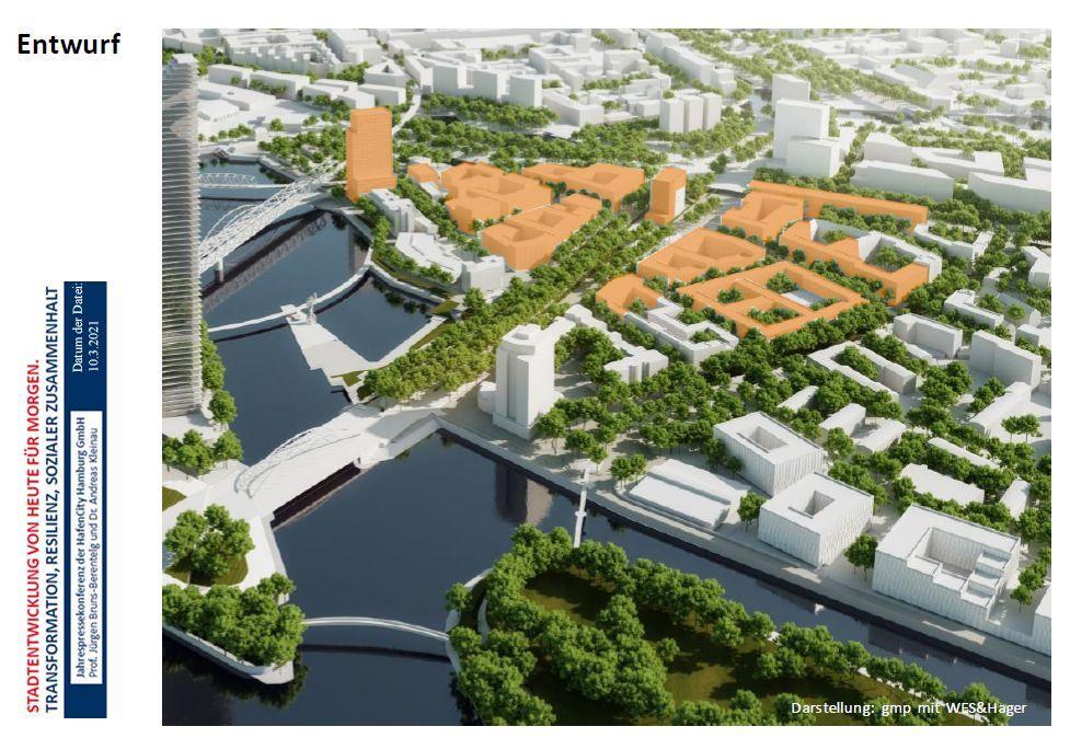Neubau-Planung, Foto: HafenCity GmbH