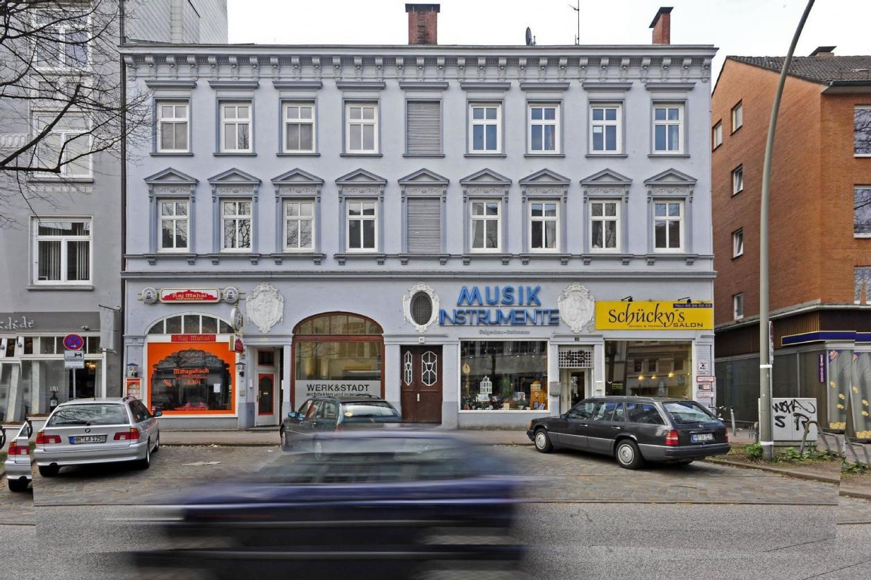 Eimsbütteler Chaussee 39-45 vor dem Abriss, Quelle: unbekannt