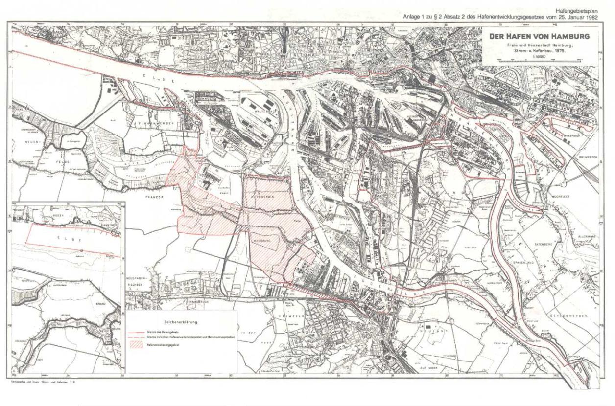 Hafengebietsplan, Anlage 1 zu §2 Absatz 2 Hafenentwicklungsgesetzt 25 01 1982
