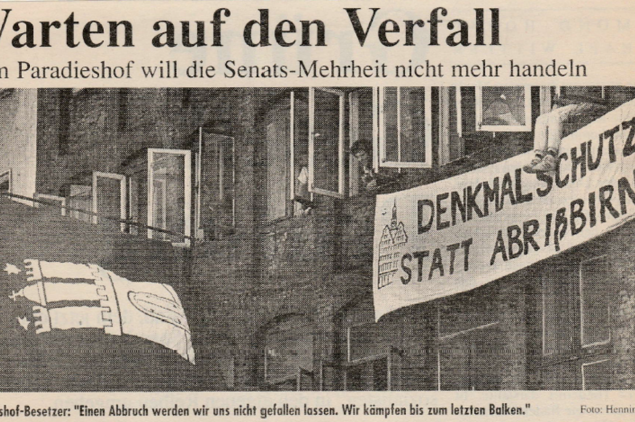 Auschnitt aus dem Artikel der Hamburger Rundschau, 11.05.1989; Foto: Hamburger Rundschau