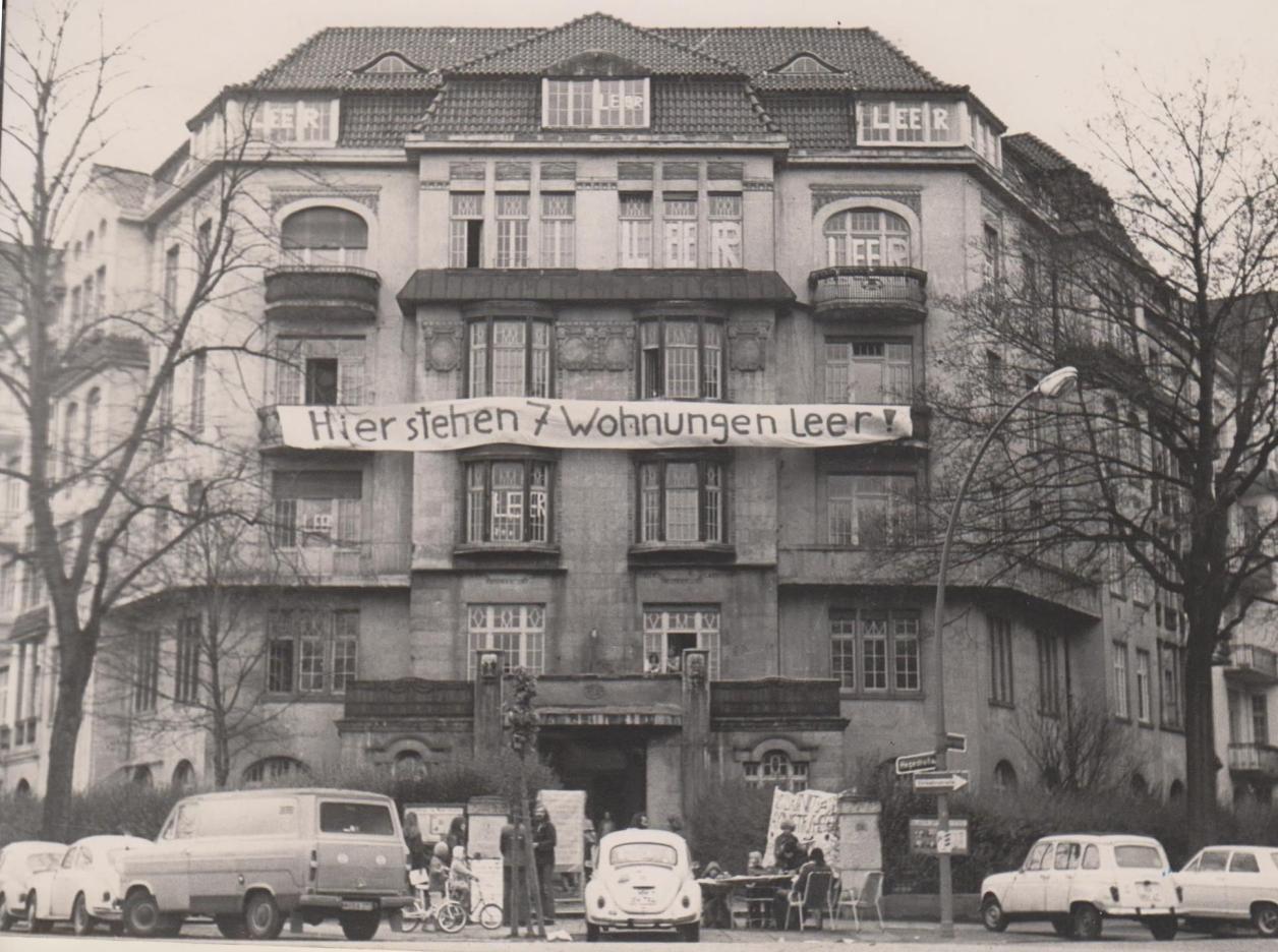 Transparent 1974, Foto: Mietergruppe Hayn-/Hegestraße