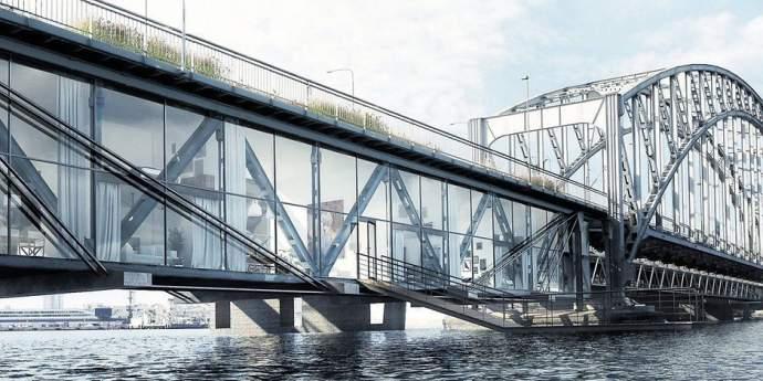 Sensationeller Architekten-Plan: Freihafen-Brücke soll Wohnungs-Meile werden